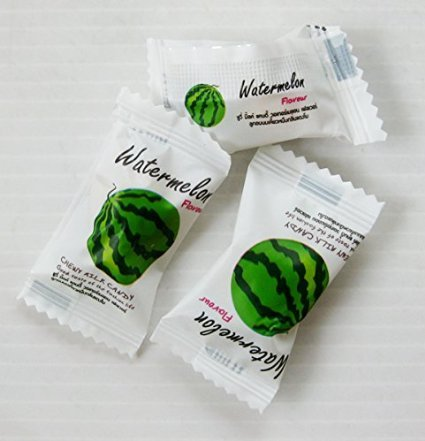 Gummy Candy Haoliyuan Watermelon Flavor Sweet Soft Chewy Mil