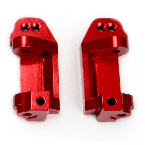 Atomik RC Alloy Caster Block, Red fits the Traxxas 1/10 Slash and Other Traxxas Models - Replaces Traxxas Part 3632 (Traxxas Aluminum Caster Blocks)