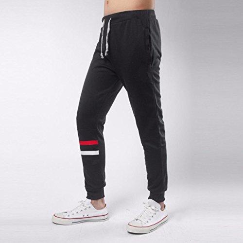 Zarupeng Herren Jogginghose Fitness Sporthose Sweatpants Lässige Sportwear Baggy Haremshose Schwarz