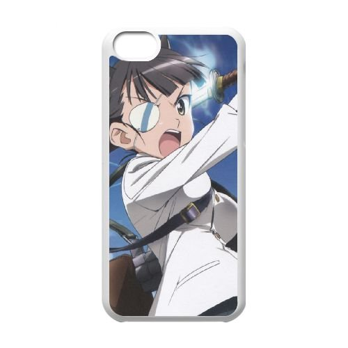 Strike Witches Girl Guns Sky Eye Patch 41226 coque iPhone 5c cellulaire cas coque de téléphone cas blanche couverture de téléphone portable EEECBCAAN05147