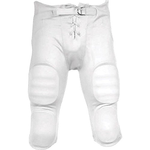 Sports Unlimited Double Knit Adult Integrated Football Pants,White,Medium