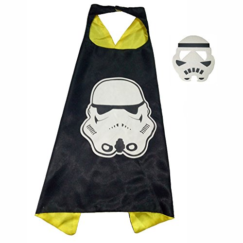 Quick Easy Star Wars Costumes (FASHION ALICE Star Wars Darth Vader CAPE & MASK SET,Halloween Costume Cloak for Child (Stormtroopers,White))