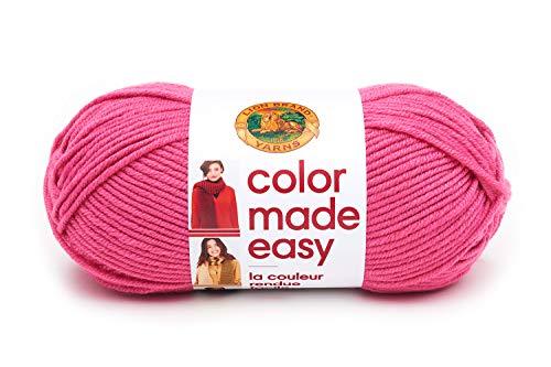 Lion Brand Yarn 195-141 Color Made Easy Yarn, Pink Lemonade