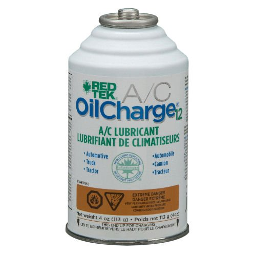 RED TEK OilCharge12 A/C Universal Refrigeration Oil (4 oz. can) A/c Refrigerant Oil