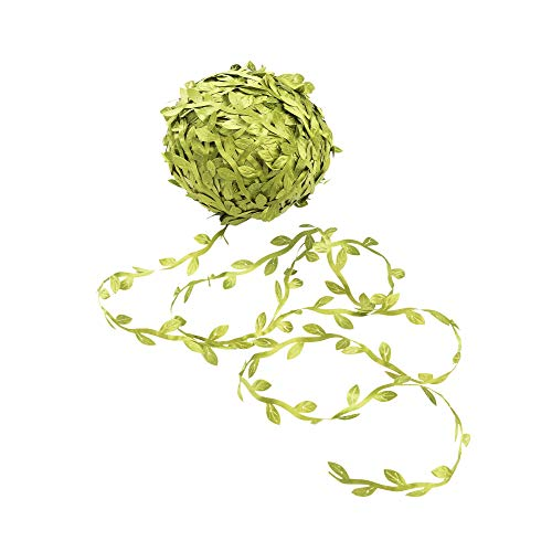 252 FT Artificial Vines Fake Leaf Garlands Fake Hanging Plants Green Leaves Decorative Home Wall Garden DIY For Wedding Party Wreaths (Green /84 Yard)