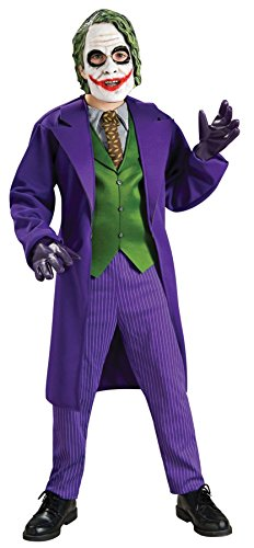 [Boys Joker Deluxe Kids Child Fancy Dress Party Halloween Costume, L (12-14)] (Horror Costumes For Kids)