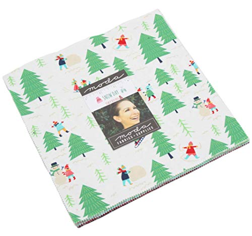 - Snow Day Layer Cake 42 10-inch Squares by Stacy Iest HSU for Moda Fabrics 20630LC