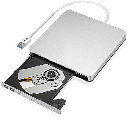 DVDドライブ 外付けスリムUSB 3.0 DVDバーナーDVD-RW VCD CD RWドライブバーナードライブポータブル YYFJP