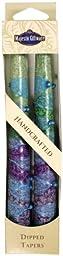 Majestic Giftware SC-SRT10-G Safed Taper Candle, 10-Inch, Sunrise Green, 2-Pack