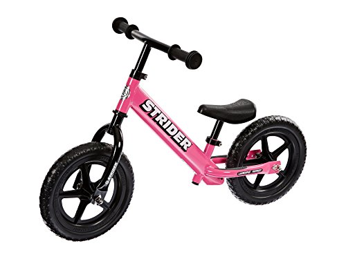 Strider - 12 Classic No-Pedal Balance Bike, Ages 18 Months to 3 Years, Pink ()