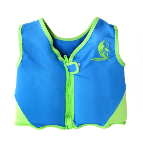 - Boys Blue/Green Swim vest Learn-to-Swim Floatation Jackets Size Medium for Kids Age 3.5-5.5 Years Old