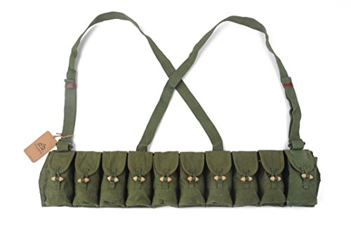 Cool Shiny SPORT LIGHT LLC Chinese Military Genuine Surplus SKS Rifle 7.62x39 10 Pocket Chest Pouch Rig Bandoleer Bandolier For Cartridge Ammo Ammunition