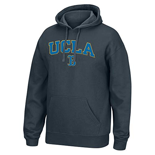 (Top of the World NCAA Men's Ucla Bruins Applique Arch Over Hoodie Charcoal Heather Medium)