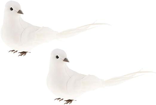 Artificial Dove Bird Decorative Feather Bird Fake Bird Simulation Ornament 3