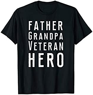 Cool Gift Father Grandpa Veteran Hero  Father's Day Gift  Women Long Sleeve Funny Shirt / Navy / S - 5XL