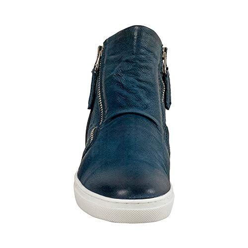 Mooz Lulu Women's Blue Miz Sneaker Leather wpgC5q