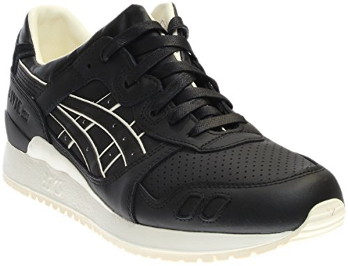 Onitsuka Tiger by Asics Unisex Gel-Lyte III Black/Black Sneaker Men's 8.5, Women's 10 Medium (Tiger Sneakers Leather)