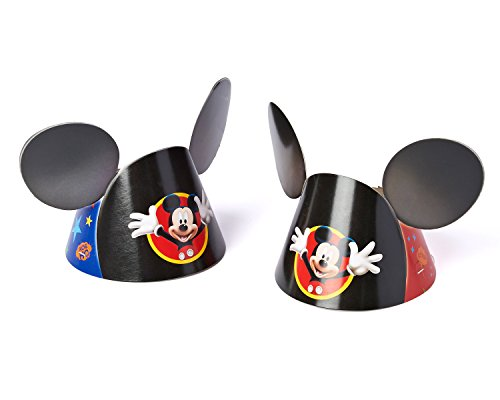 Amscan Mickey Mouse Clubhouse Party Hat, Mickey Ears, 8 Count, Party Supplies