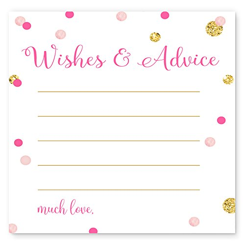 Abstract Dot - Pink and Gold Advice Cards Abstract Dot (25pc.)