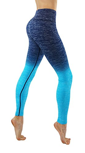 lex Dry-Fit Pants Workout Printed Leggings Ombre Print (S USA 2-4, CF/L704-N.O.Blue) ()