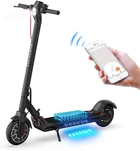 GoZheec Trottinette Électrique, ES2 Scooter Électrique Pliable 350W Moteur avec Contrôle de l'application et Port USB Intégré, 7.5h Batterie, LCD Écran d'affichage,25km/h, 8.5 inch Pneu