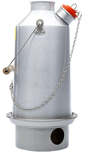 Camp Stove - Kelly Kettle: Anodized Aluminum Base Camp - Large - Holds 54 oz of Water - Boils Water Within Minutes, Uses Natural Fuel, and Enables You to Rehydrate Food or Cook a Meal Aluminum Kettle