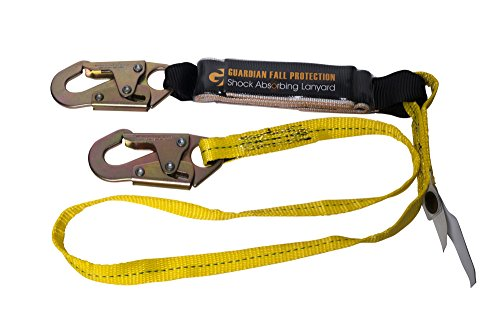 Fall Arrest Protection (Guardian Fall Protection 01220 6-Foot Single Leg Shock Absorbing)