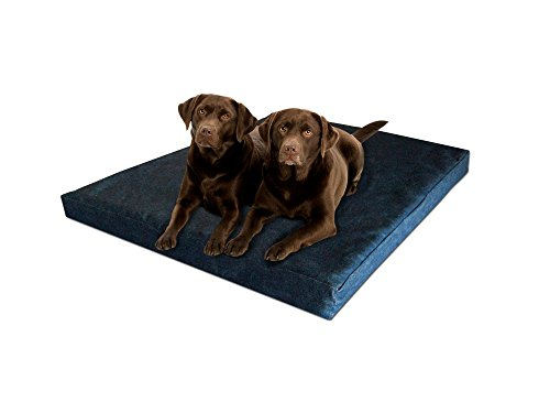 Pet Support Systems Orthopedic GEL Memory Foam Dog Bed, XX-Large (55-Inch x 37-Inch x 4.5-Inch), Blue Denim by Pet Support Systems