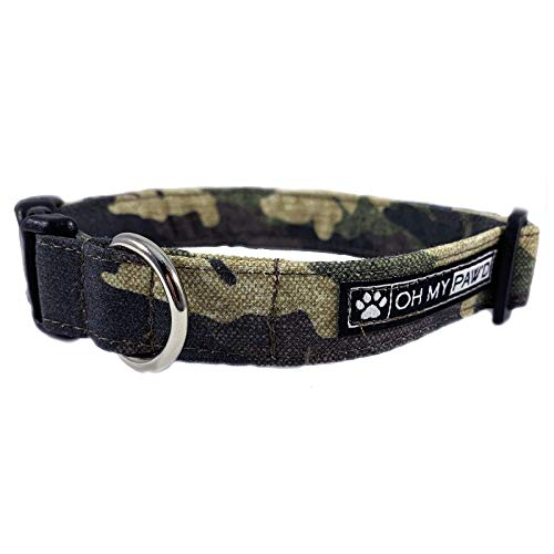 Camouflage Dog Collar/Cat Collar for Pets Size Medium 3/4 Inch Wide and 12-19 Inches Long