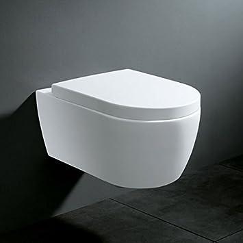 Turbo Soho Hänge Wand WC ohne Unterspülrand Toilette Brillant Weiss mit  YB69