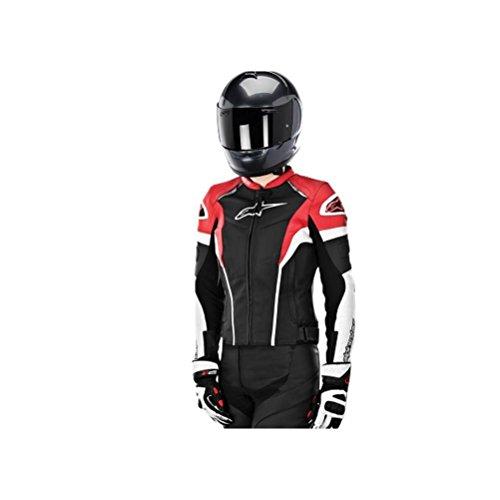 Alpinestars Women's Stella GP Plus R Leather Jacket (44) (BLACK/WHITE/RED)