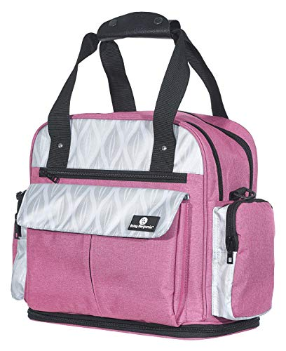 Baby Benjamin Diaper Bag Backpack Tote with Insulated Bottle Pockets, Pink