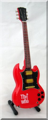 PETE TOWNSHEND Miniature Guitar The WHO red
