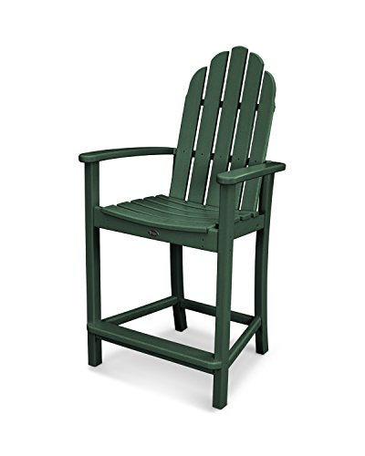 Trex Outdoor Furniture Cape Cod Adirondack Counter Chair in Rainforest Canopy
