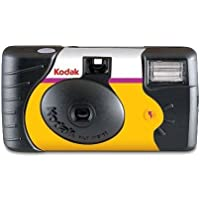 Kodak HD Power Flash Single Use Camera 27+ 12 Exposures Capture Your Memories, Yellow/Black(3961315)