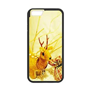 iPhone 6 4.7 Inch Cell Phone Case Black Christmas Deer Laywf