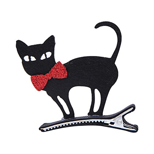 IKRR 5pc Halloween Hairpin With Light Children's Makeup Black Cat Decoration (Cat Halloween Makeup Cute)