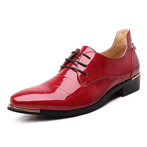 HYLM nuovi uomini di scarpe da sera di business? scarpe scarpe da sposa in pizzo sottolineato Red