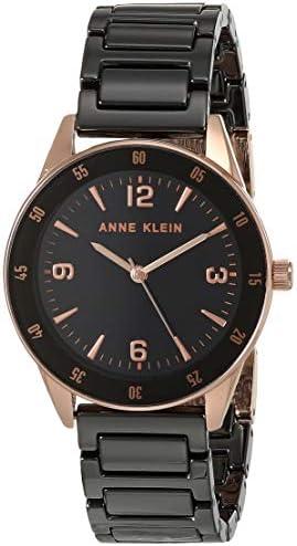Anne Klein Ladies rose gold and black ceramic bracelet watch, AK / 3658RGBK