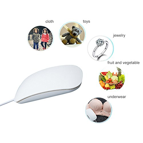 AMC Portable Automatic Mini Ultrasonic Vibration Washing Machine for Clothes Fruit and Jewelry Cleaning in Mouse Shape