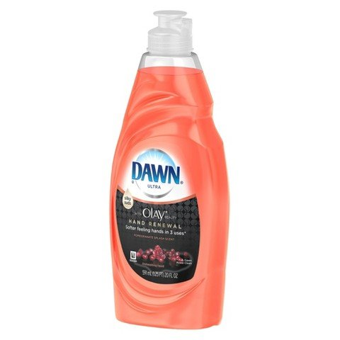 Dawn Ultra Hand Renewal 18 Ounce Dishwashing Liquid Peach & Almond (2 Pack) (Dawn Dishwashing Liquid Olay)