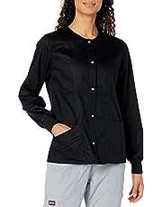 Cherokee Women's Luxe Snap Front Warm-Up Jacket