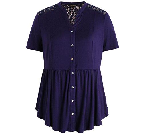 Floral Button Front Shirt - 9
