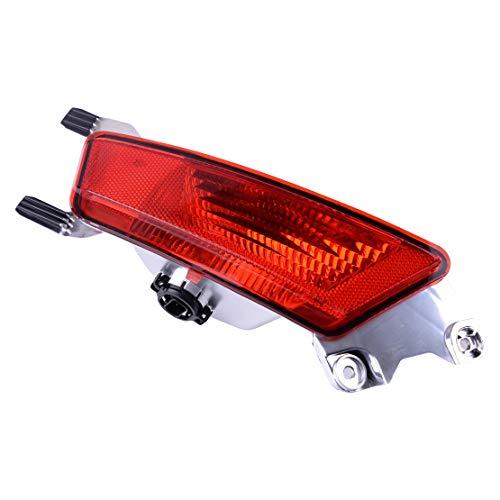 beler Left Rear Bumper Fog Lamp Light Lens Fit For Range Rover Evoque 2011-2018 (Light Left Fog Lens)