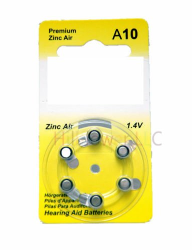 Hillflower 24 pieces A10 Size 10 10A PR70 Card 1.45V Heavy Duty Long Duration Hearing Aid Zinc Air Battery