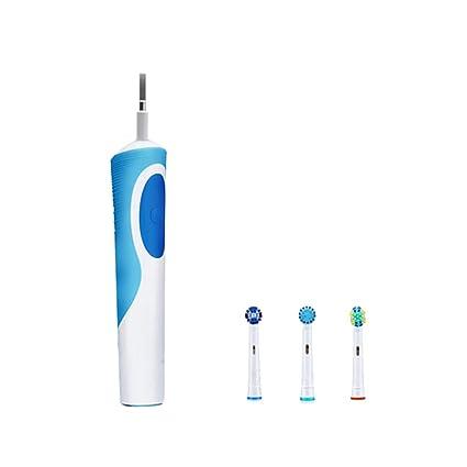 Cepillo De Dientes Eléctrico Recargable, Cepillo Dental Electrico Impermeable Blanco 3 Cabezales