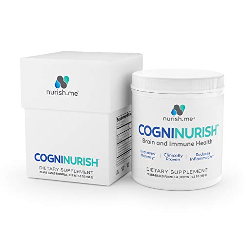 CogniNurish – Brain Boost and Wellness Formula – Brain Supplement to Enhance Memory, Focus and Sleep – Scientifically Formulated with Polysaccharides