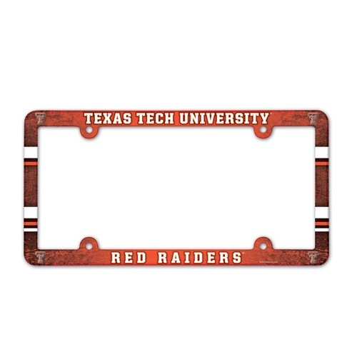 (NCAA License Plate with Full Color Frame, Texas Tech)