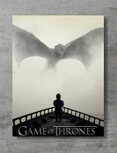 APPLEpie Game of Thrones - Tyrion Lannister & Dragon Poster 18x 24 Inches (Game Of Thrones Season 5 Poster)