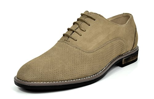 Bruno Marc Mens Urban Suede Leather Lace Up Oxfords Shoes 5-sand